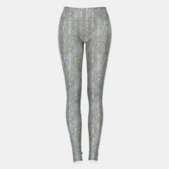 The elegant grace of nature: the wild oat Leggings Bild der Miniatur