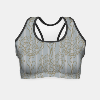 The elegant grace of nature: the wild oat Crop Top Bild der Miniatur