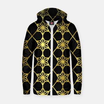 Thumbnail image of Gold Stars Geometric Zip up hoodie, Live Heroes
