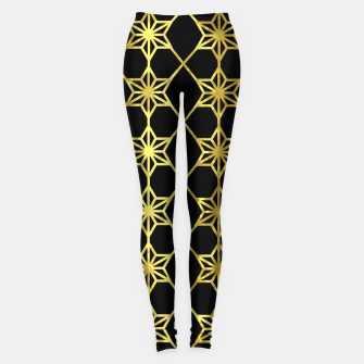 Thumbnail image of Gold Stars Geometric Leggings, Live Heroes