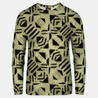 Thumbnail image of Gold and Black Linear Geometric Pattern Unisex sweater, Live Heroes