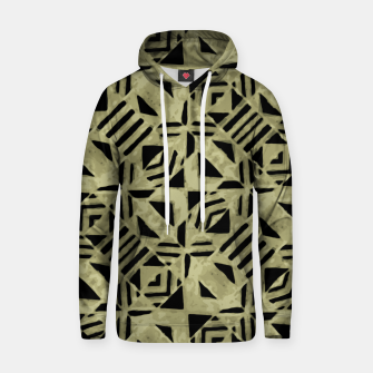 Thumbnail image of Gold and Black Linear Geometric Pattern Hoodie, Live Heroes
