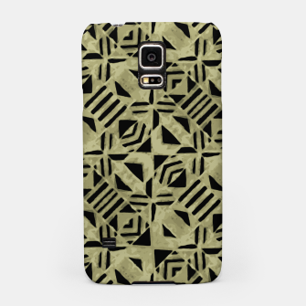 Thumbnail image of Gold and Black Linear Geometric Pattern Samsung Case, Live Heroes