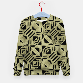 Thumbnail image of Gold and Black Linear Geometric Pattern Kid's sweater, Live Heroes
