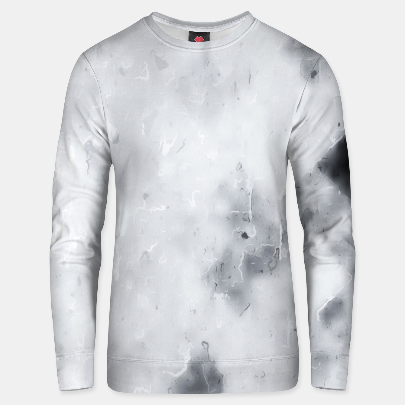 Image of geometric square pixel pattern abstract painting in black and white Unisex sweater - Live Heroes