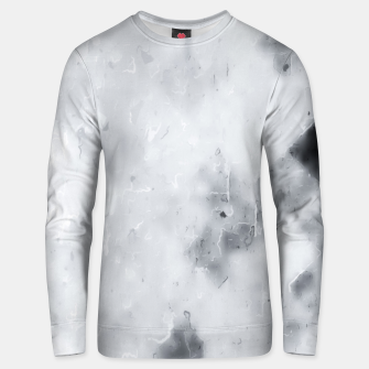 geometric square pixel pattern abstract painting in black and white Unisex sweater thumbnail image