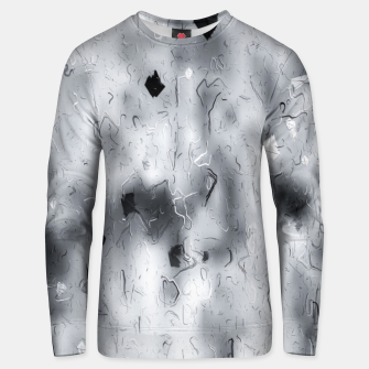 painting texture abstract background in black and white Unisex sweater thumbnail image