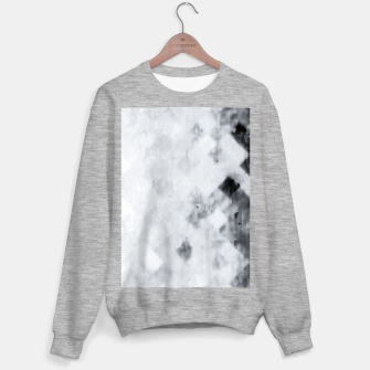 geometric square pixel pattern abstract painting in black and white Sweater regular thumbnail image