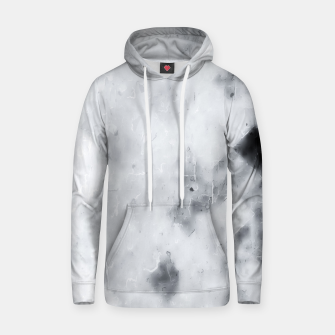 geometric square pixel pattern abstract painting in black and white Hoodie thumbnail image