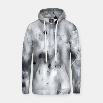 painting texture abstract background in black and white Hoodie thumbnail image
