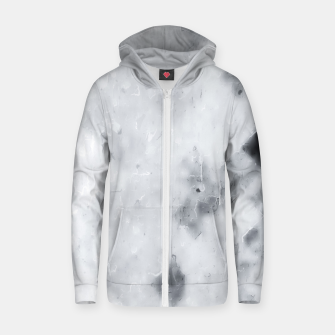 geometric square pixel pattern abstract painting in black and white Zip up hoodie thumbnail image