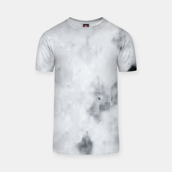 geometric square pixel pattern abstract painting in black and white T-shirt thumbnail image