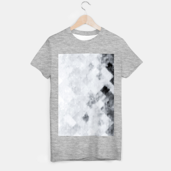 geometric square pixel pattern abstract painting in black and white T-shirt regular thumbnail image