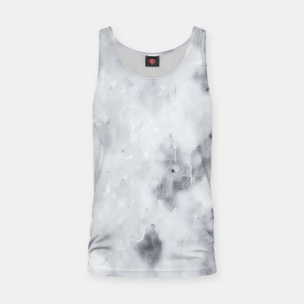 geometric square pixel pattern abstract painting in black and white Tank Top thumbnail image