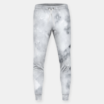 geometric square pixel pattern abstract painting in black and white Sweatpants thumbnail image