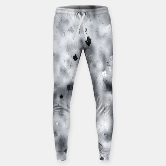 painting texture abstract background in black and white Sweatpants thumbnail image