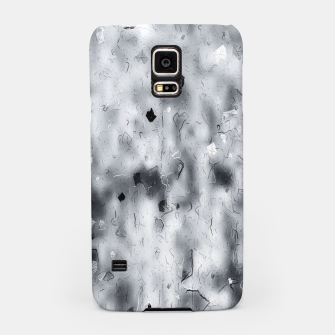 painting texture abstract background in black and white Samsung Case thumbnail image