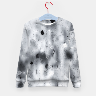 painting texture abstract background in black and white Kid's sweater thumbnail image