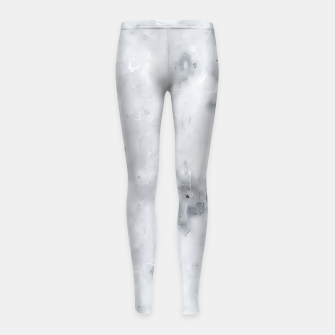 geometric square pixel pattern abstract painting in black and white Girl's leggings thumbnail image