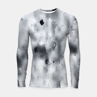 painting texture abstract background in black and white Longsleeve rashguard  thumbnail image