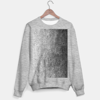 geometric square pattern abstract background in black and white Sweater regular thumbnail image