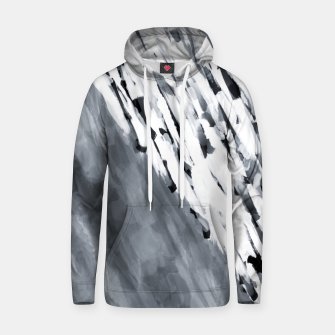 line pattern painting texture abstract in black and white Hoodie thumbnail image