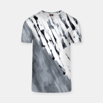 line pattern painting texture abstract in black and white T-shirt thumbnail image