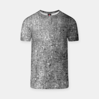 geometric square pattern abstract background in black and white T-shirt thumbnail image