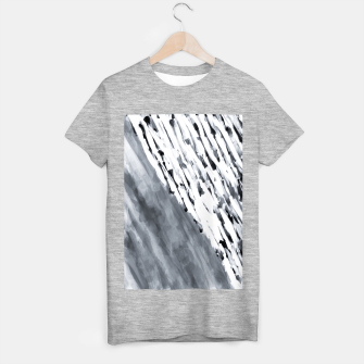 line pattern painting texture abstract in black and white T-shirt regular thumbnail image