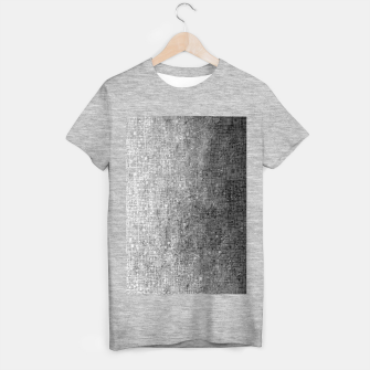 geometric square pattern abstract background in black and white T-shirt regular thumbnail image