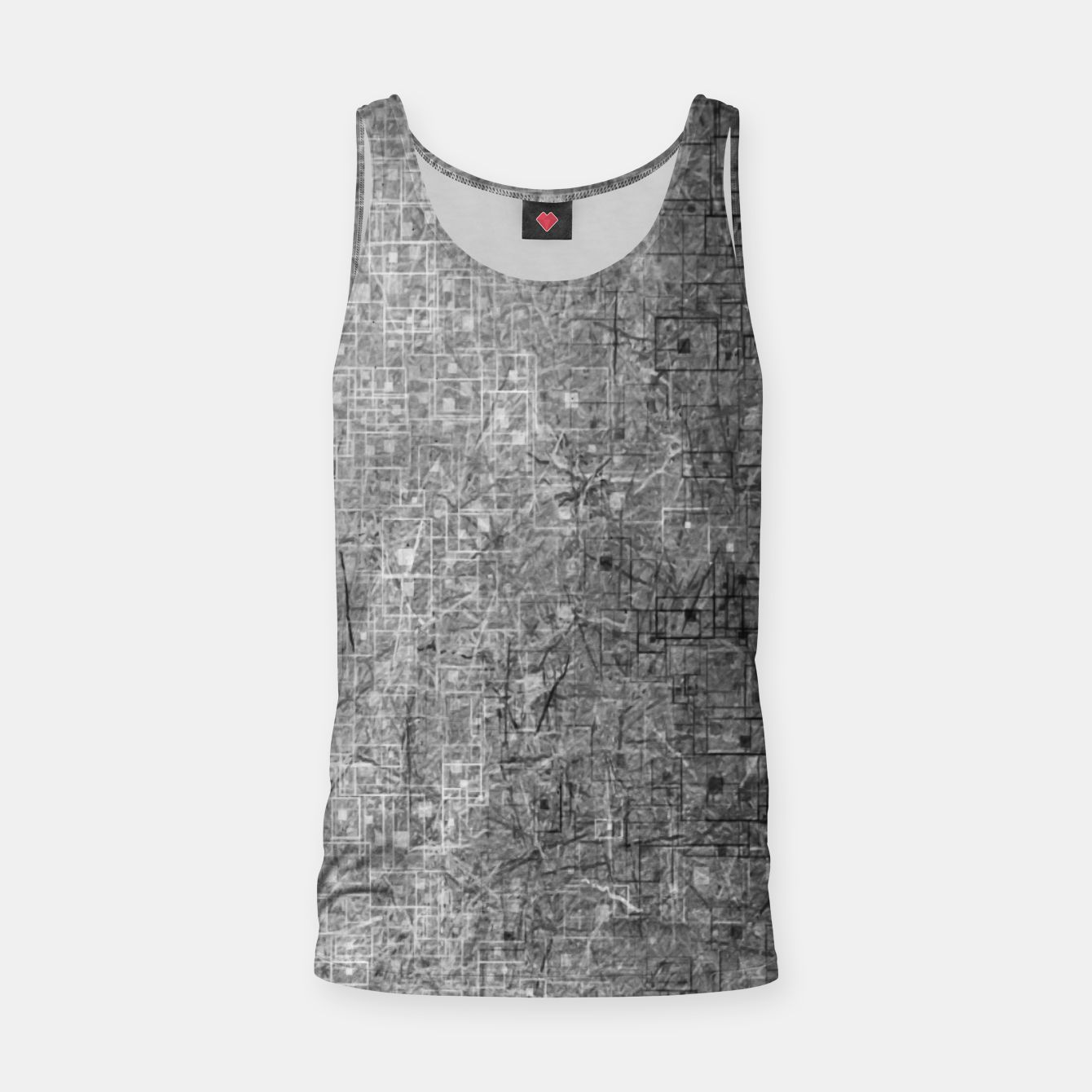 Image of geometric square pattern abstract background in black and white Tank Top - Live Heroes