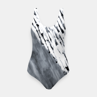 line pattern painting texture abstract in black and white Swimsuit thumbnail image
