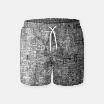geometric square pattern abstract background in black and white Swim Shorts thumbnail image