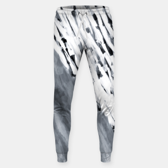 line pattern painting texture abstract in black and white Sweatpants thumbnail image