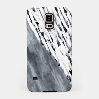 line pattern painting texture abstract in black and white Samsung Case thumbnail image