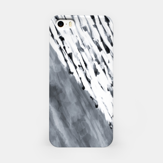 line pattern painting texture abstract in black and white iPhone Case thumbnail image
