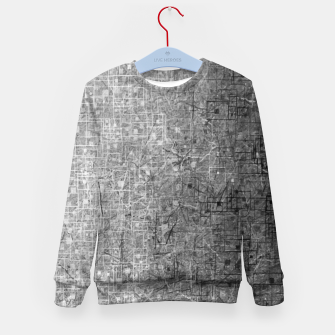 geometric square pattern abstract background in black and white Kid's sweater thumbnail image