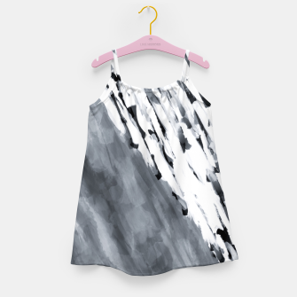 line pattern painting texture abstract in black and white Girl's dress thumbnail image