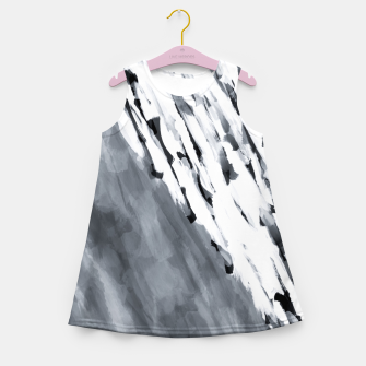 line pattern painting texture abstract in black and white Girl's summer dress thumbnail image