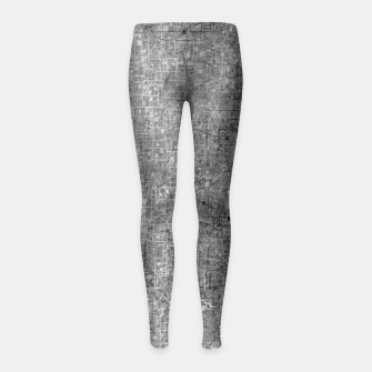 geometric square pattern abstract background in black and white Girl's leggings thumbnail image
