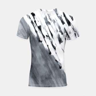line pattern painting texture abstract in black and white Shortsleeve rashguard thumbnail image