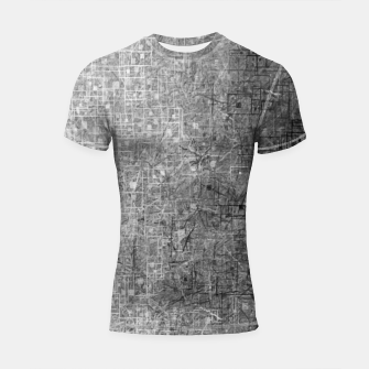 geometric square pattern abstract background in black and white Shortsleeve rashguard thumbnail image