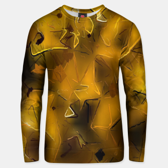 painting texture abstract background in yellow  Unisex sweater thumbnail image
