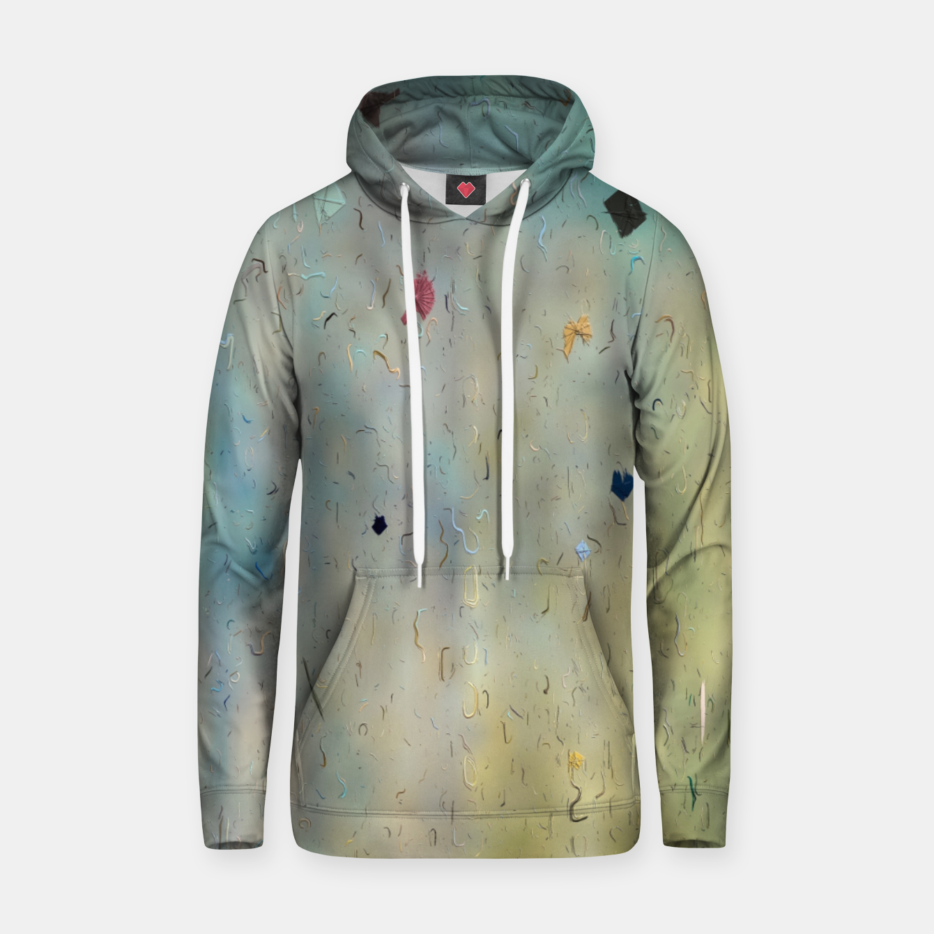 Image of painting texture abstract background in yellow and blue Hoodie - Live Heroes