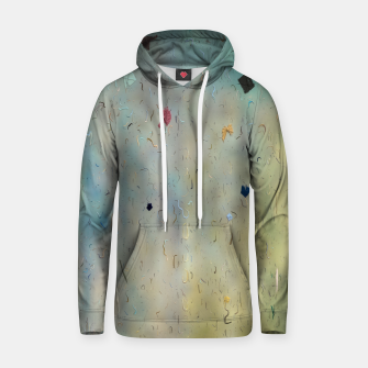 painting texture abstract background in yellow and blue Hoodie thumbnail image