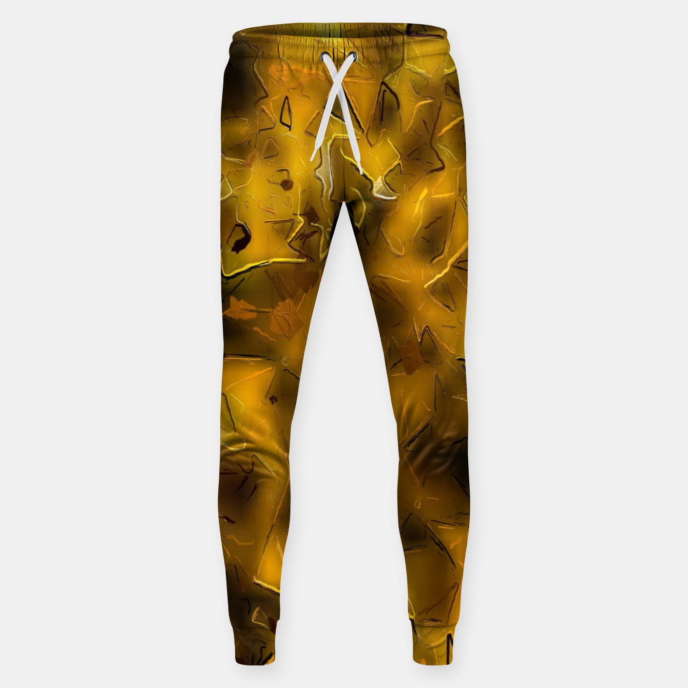 Image of painting texture abstract background in yellow  Sweatpants - Live Heroes