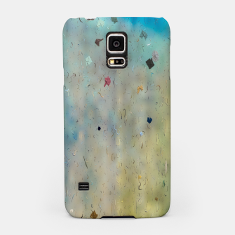 painting texture abstract background in yellow and blue Samsung Case thumbnail image