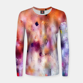 colorful painting texture abstract background in orange purple Women sweater thumbnail image