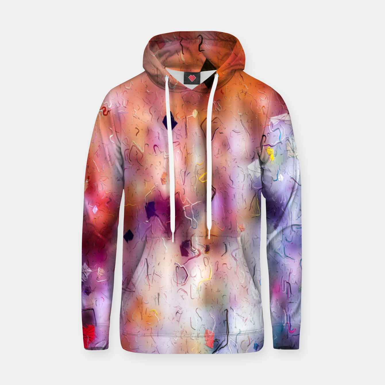 Image of colorful painting texture abstract background in orange purple Hoodie - Live Heroes