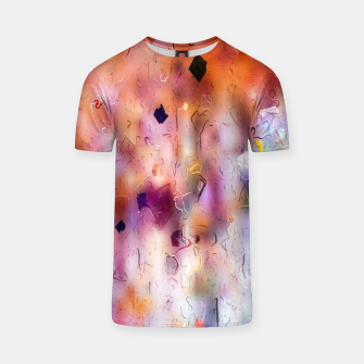 colorful painting texture abstract background in orange purple T-shirt thumbnail image